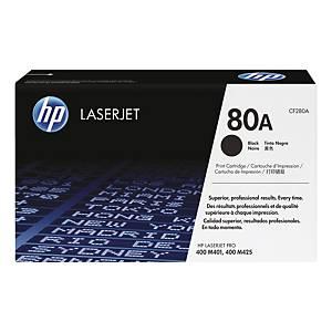 Lasertoner HP 80A CF280A, 2 700 sidor, svart