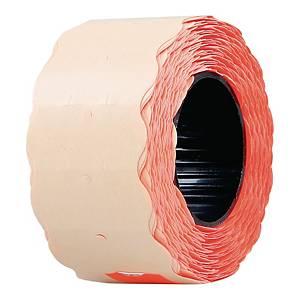 Etykiety do metkownic 26 x 12 mm, czerwone fluo, fala, 800 sztuk