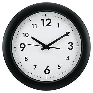 ALBA EASY TIME ROUND WALL CLOCK BLK