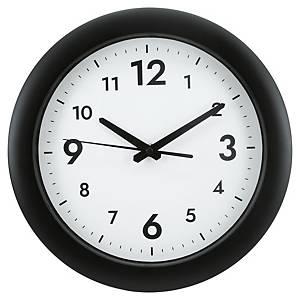Wand-Uhr, 30 cm, schwarz