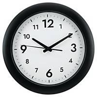 Väggklocka Alba Easytime, Ø 30 cm, svart ram