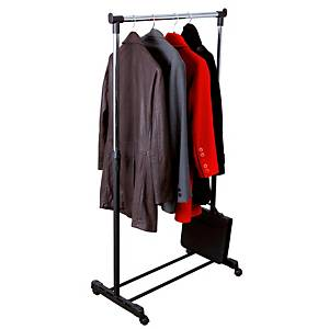 Alba mobile coat rack 180x88x42cm black