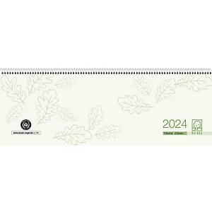 Tischquerkalender 2021 Zettler 126, 1 Woche / 2 Seiten, 42x15cm, grün