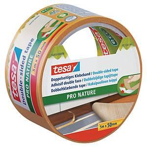 Fita adesiva de dupla face Tesa Pro Nature - 50 mm x 5m - branco