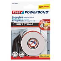Tesa® Powerbond Ultra doppelseitiges Montageband, 19 mm x 1,5 m