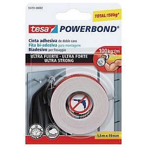 Fita adesiva de dupla face Tesa Powerbond - 19mm x 1,5m
