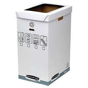 Corbeille à papier Fellowes Bankers Box System, carton recyclé, 90 litres, les 5