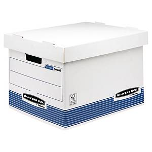 Archive Box Bankers Box System, W380xD287xH430 mm, blue/white, pack of 10 pcs