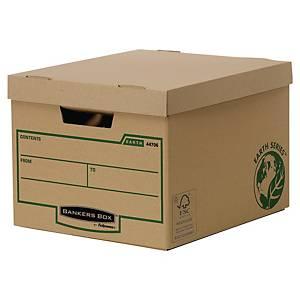 Bankers Box Earth Series opbergdoos, golfkarton, bruin, FSC, per 10 dozen