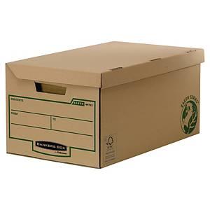 Opbevaringskasse Bankers Box Earth Series, med låg, stor, pakke a 10 stk.