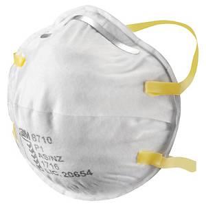 Respiratore a conchiglia 3M 8710E FFP1 senza valvola - conf. 20