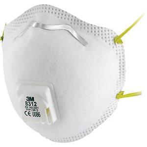 3M™ stofmasker 8312, FFP1, met uitademventiel, pak van 10 stuks