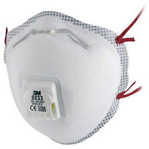 3M™ 8833 Atemschutzmaske mit Ventil, FFP3, 10 Stück