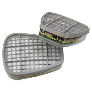 3M™ 6059 Partikelfilter für Vollmasken und Halbmasken, ABEK1, 8 Stück