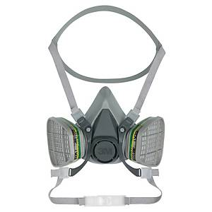 Halvmaske 3M 6200, åndedrætsværn, str. M