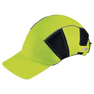UVEX U-CAP HI-VIZ PROTECTION CAP YELLOW AND BLACK
