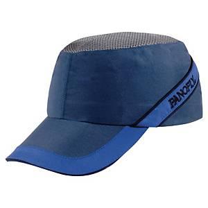 Caschetto antiurto Deltaplus Coltan visiera 7 cm blu