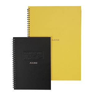 A zone Team Wire A5 Ring Book Black - 120 Sheets