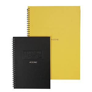 A zone Team Wire B5 Ring Book Black - 120 Sheets