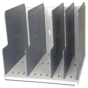 Exacompta Modulotop sorterder 4 compartments grey