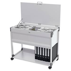 DURABLE 3787 SYSTEM FILE TROLLEY MULTI T