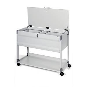 Durable hangmappenwagen voor 100 A4 hangmappen, 74 x 88,5 x 44 cm, grijs