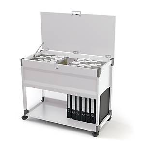 Hengemappevogn Durable til 100 stk. A4-mapper, med låsbart lokk