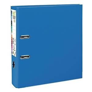 Exacompta Premium Touch lever arch file in PP 8 cm blue