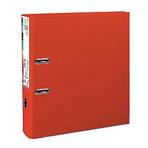 Exacompta Premium Touch lever arch file in PP 8 cm red