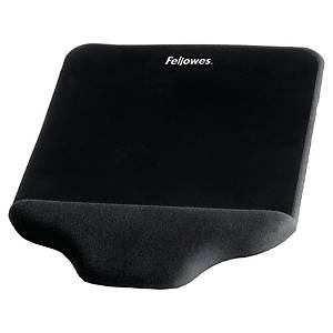 Tapis de souris Fellowes Plush Touch FoamFusion, mousse, noir