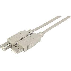 Câble USB 2.0 Dacomex - type AB - mâle/mâle - 5 m