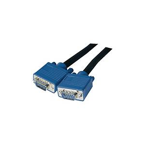 PREMIUM SVGA-Kabel Full HD, Länge: 3m, schwarz/blau