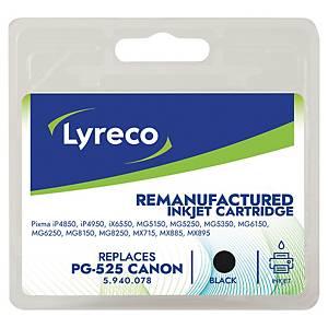 Tintenpatrone Lyreco komp. mit Canon PG-525BK, Inhalt: 19ml, schwarz