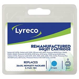 Lyreco compatible HP CB323EE cartouche jet d encre nr.364XL bleue [750 pages]