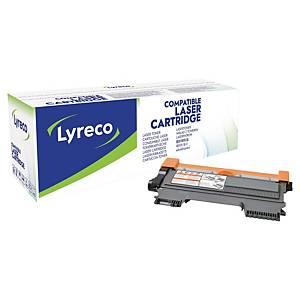 Lasertoner Lyreco Brother TN-2220 kompatibel, 2.600 sider, sort