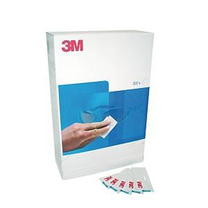 Chiffons de nettoyage de lunettes 3M™, la boîte de 500