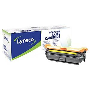 Toner Lyreco kompatibel mit HP CE402A, Reichweite: 6.000 Seiten, gelb