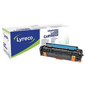 Toner Lyreco kompatibel mit HP CE411A, Reichweite: 2.600 Seiten, cyan