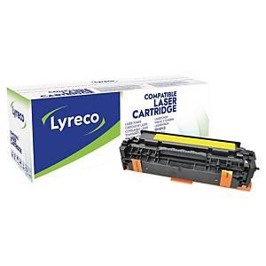 Toner Lyreco kompatibel mit HP CE412A, Reichweite: 2.600 Seiten, gelb