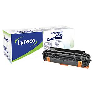 Toner Lyreco kompatibel mit HP CE410X, Reichweite: 4.000 Seiten, schwarz