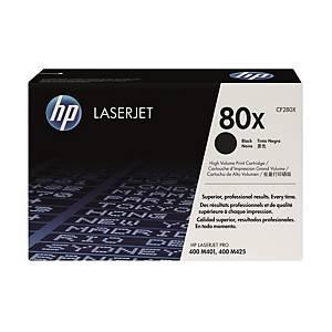 HP CF280X LaserJet Toner Cartridge Pro (80X) - Black