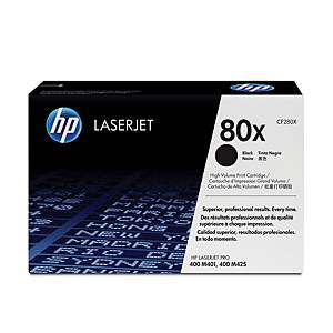 HP toner lézernyomtatókhoz 80x (CF280X) fekete