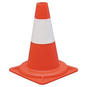 Viso reflective traffic cone class 2 PP height 30 cm orange/white