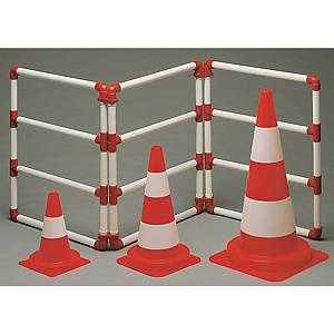 Reflective traffic cone class 2 PP height 30 cm orange/white