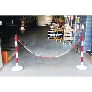 Kit de délimitation Viso - poteaux et chaîne acier - rouge/blanc
