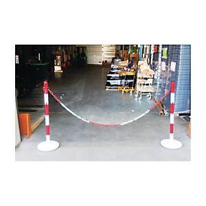Kit delimitatore sicurezza in metallo rosso-bianco