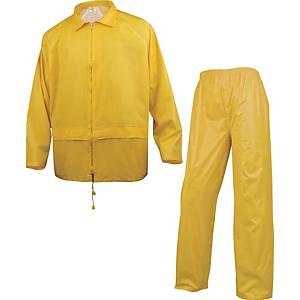 DELTAPLUS EN400 Regenanzug, Größe L, gelb