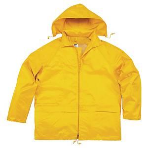 Regntøj Deltaplus, arbejdsjakke og buks, gul, str. XL