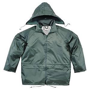 Regnsett Deltaplus, arbeidsjakke og bukse, grønn, str. M