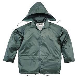 Regnställ Deltaplus, arbetsjacka och byxa, grönt, stl. L
